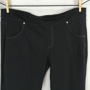 Athleta Bettona Classic Pants 1X Black Womens Plus